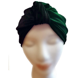 Velvet Turban - Emerald - Retro Peaches