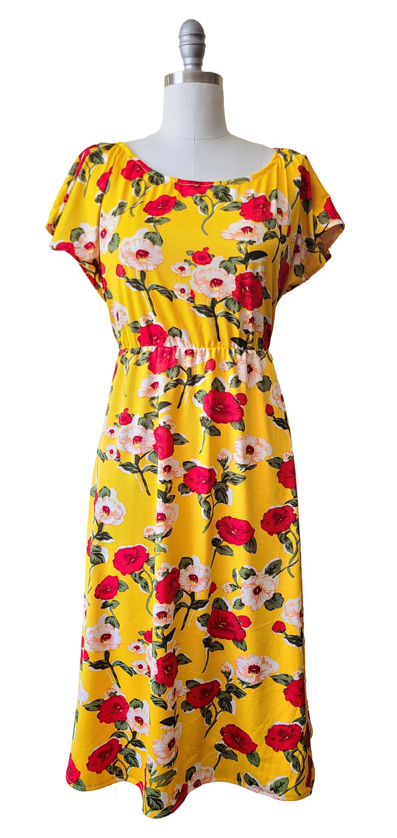 Lucy Dress - Retro Peaches