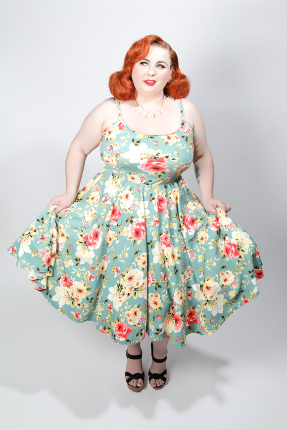 Beatrice Dress - Floral Swing - Retro Peaches Vintage Dresses