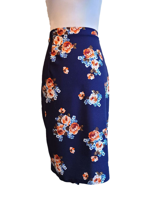 Toni Skirt - Blue/Rust - Retro Peaches