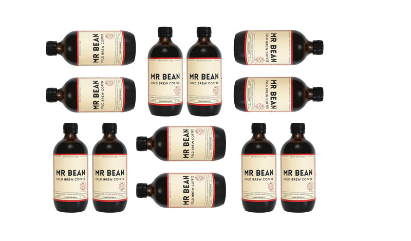 12 Bottles of Mr Bean Cold Brew Coffee Concentrate