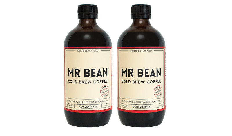2 Bottles of Mr Bean Cold Brew Coffee Concentrate