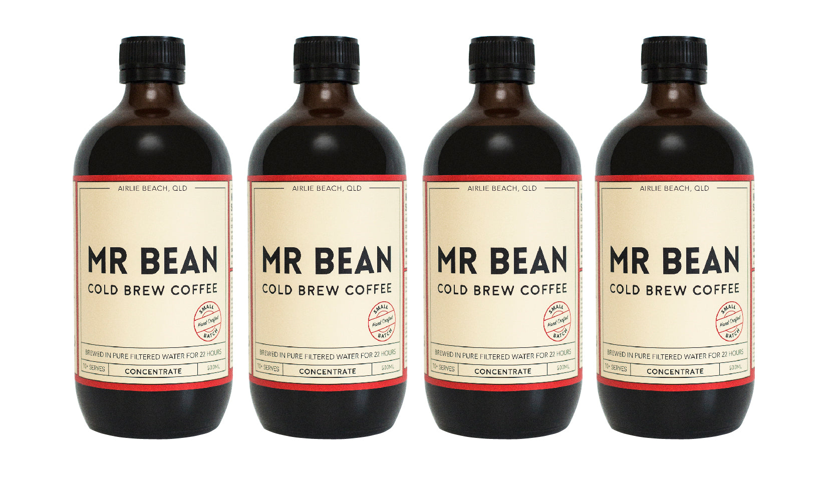 4 Bottles of Mr Bean Cold Brew Coffee Concentrate