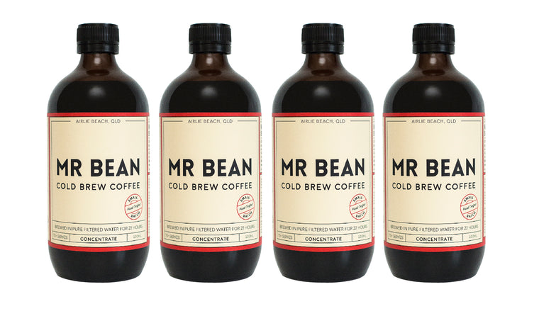 4 Bottles of Mr Bean Cold Brew Coffee Concentrate *save 5