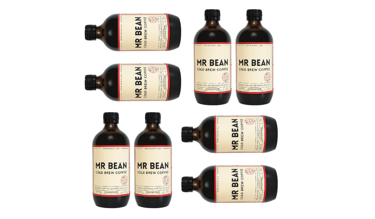 8 Bottles Mr Bean Cold Brew Coffee Concentrate *save $10