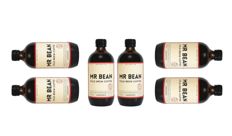 6 Bottles of Mr Bean Cold Brew Coffee Concentrate *save $5