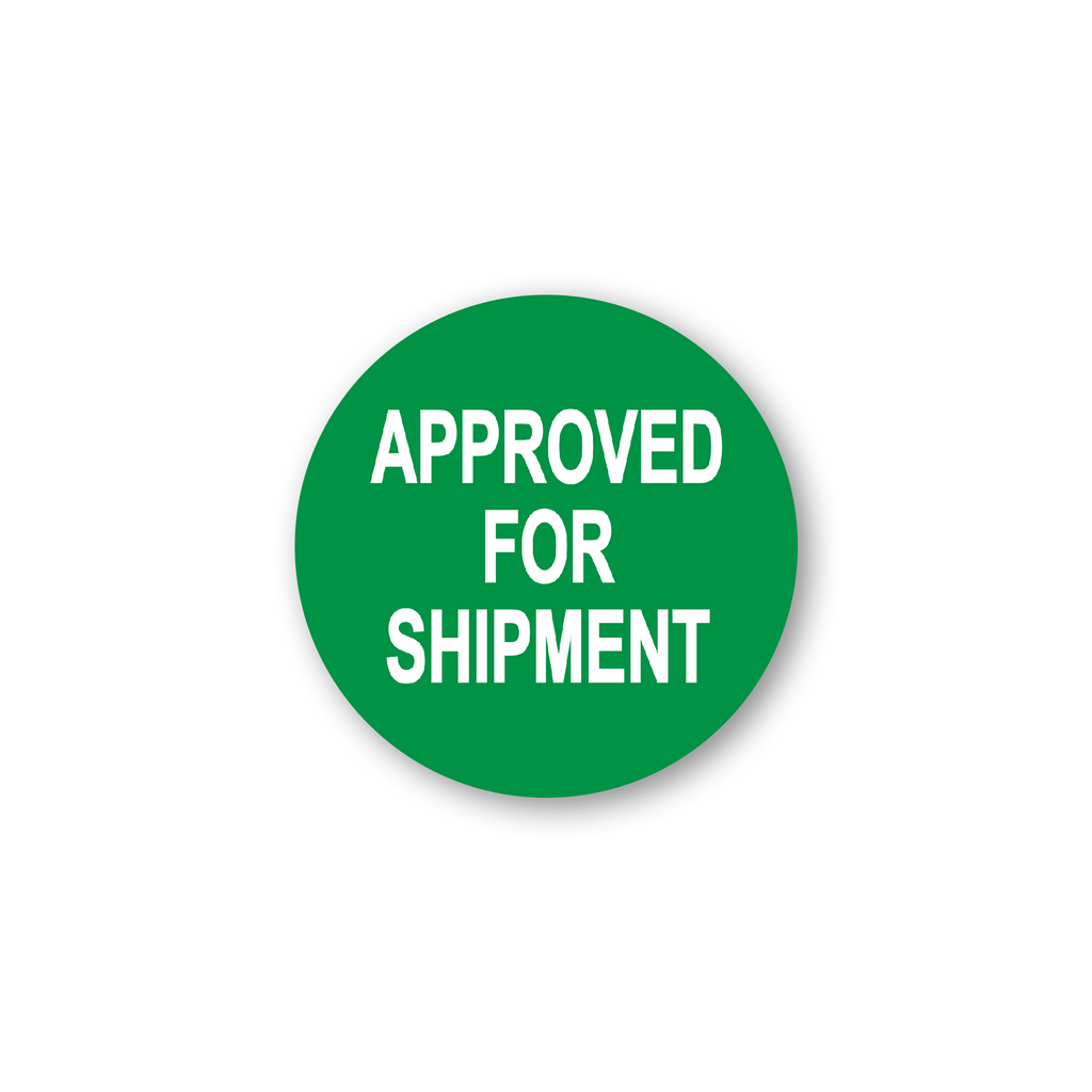 "Approved for Shipment Industrial Labels - 2""x2"" Roll of 500"
