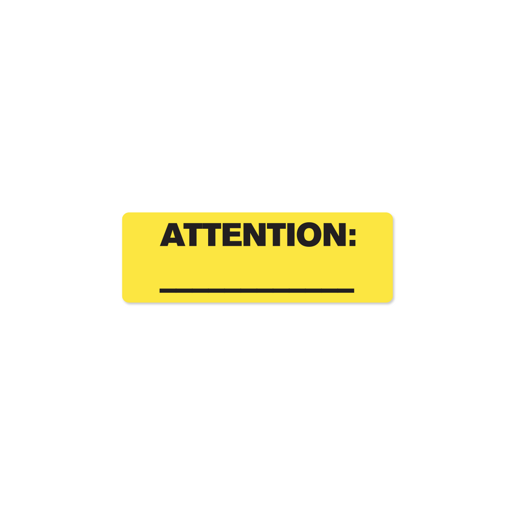 "Attention Industrial Labels - 3""x1"" Roll of 500"