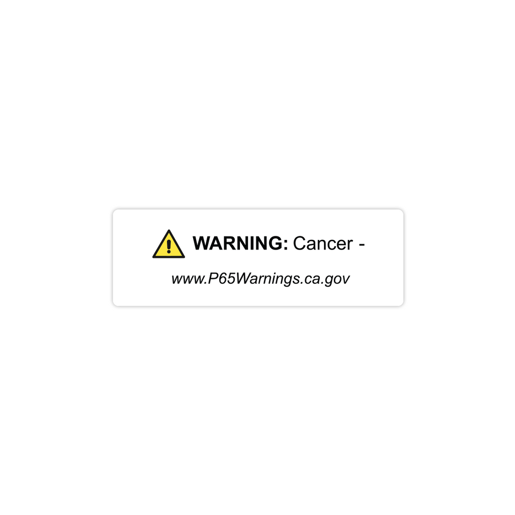 "California Prop65 Cancer Harm Warning Labels - 3""x1"" Roll of 500"