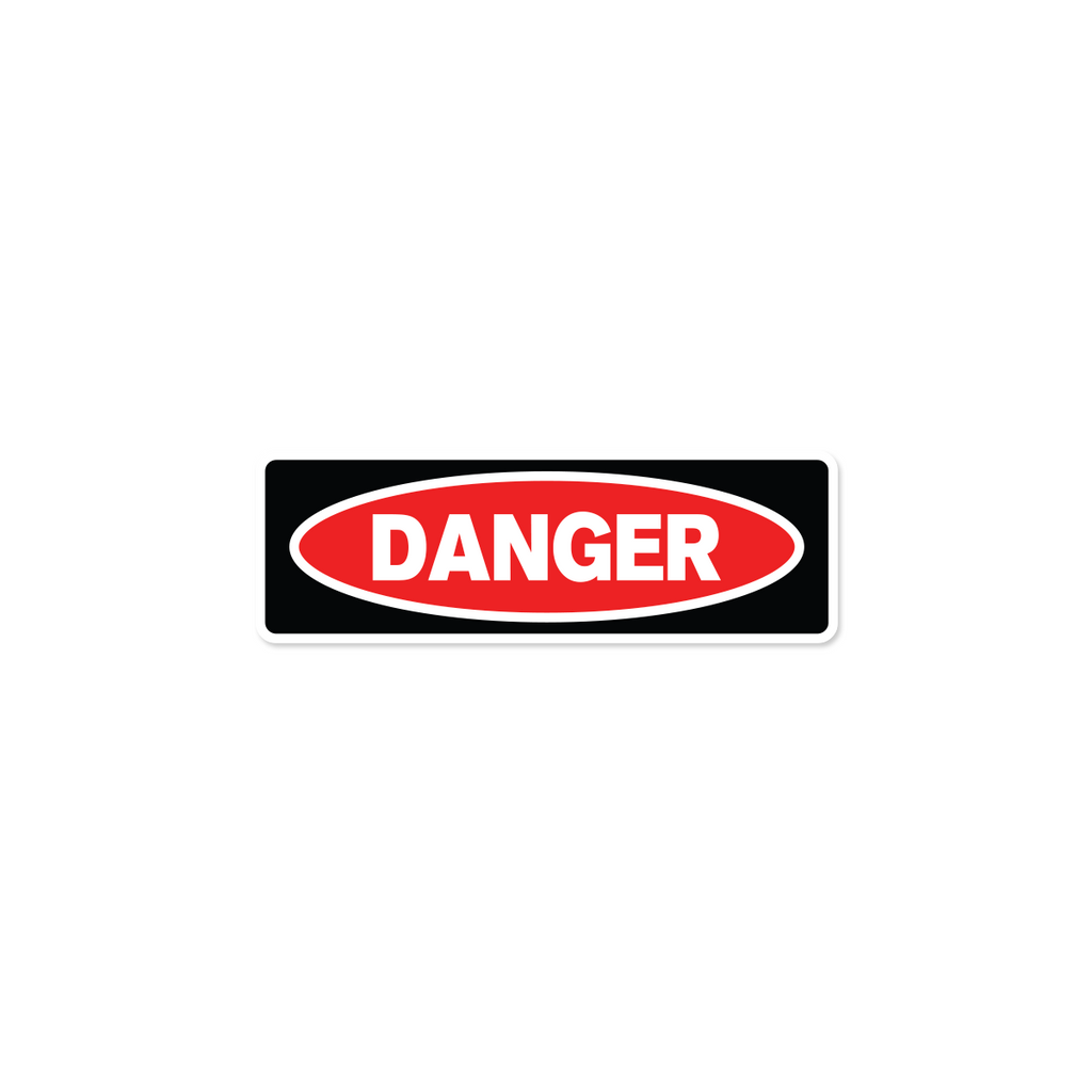 "Danger Industrial Labels - 3""x1"" Roll of 500"