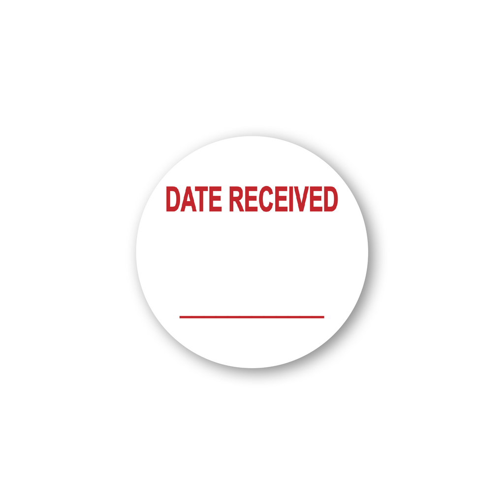 "Date Received Write in Industrial Labels - 2""x2"" Roll of 500"
