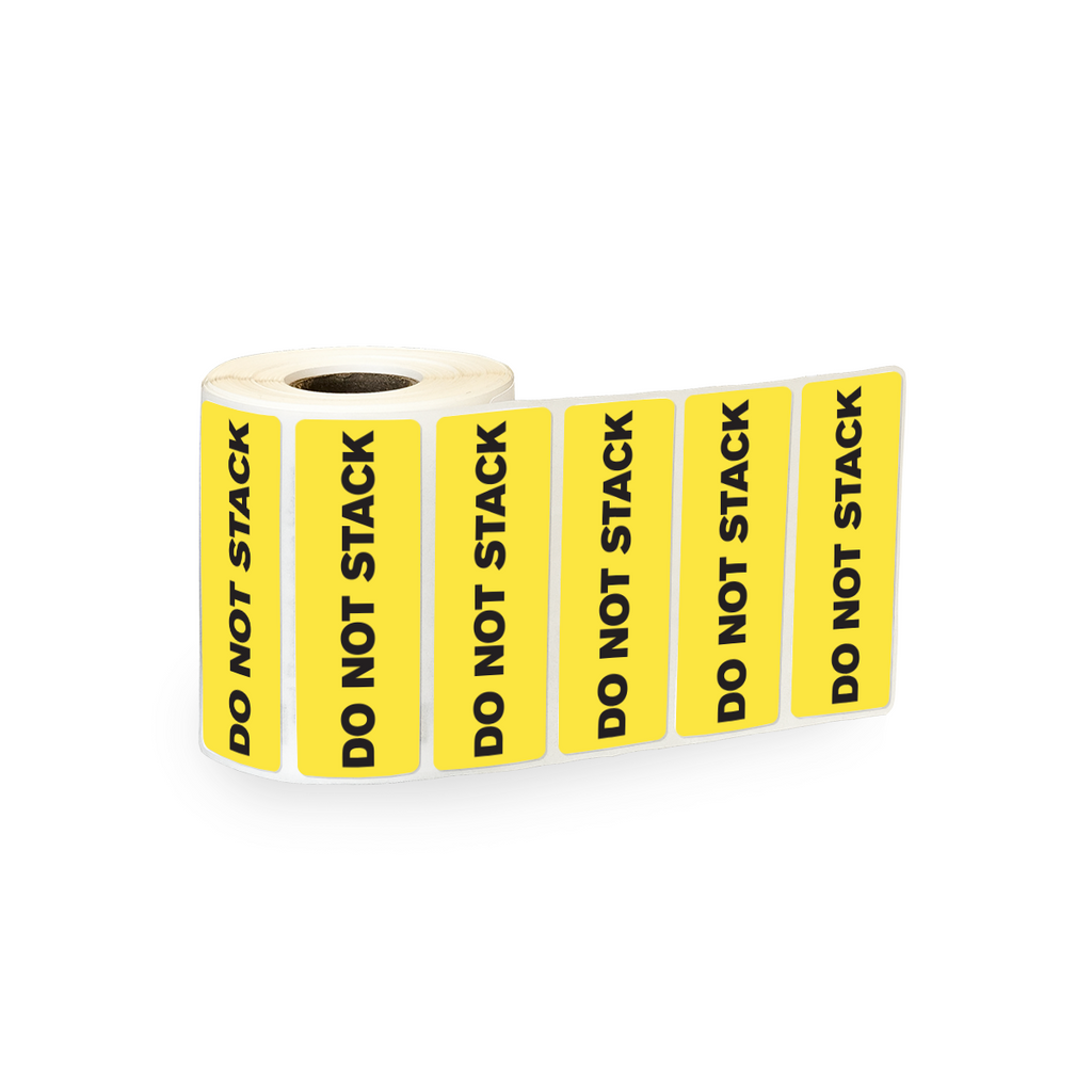 "Do Not Stack Industrial Labels - 3""x1"" Roll of 500"