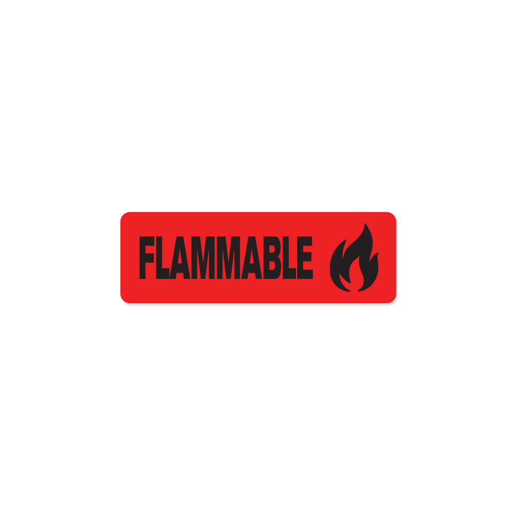 "Flammable Industrial Labels - 3""x1"" Roll of 500"