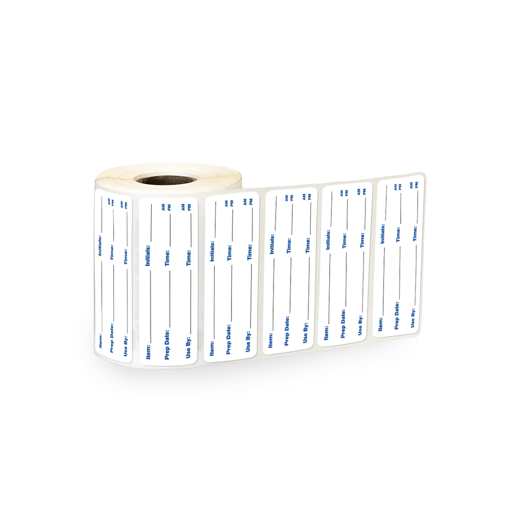 "Food Preparation Industrial Labels - 3""x1"" Roll of 500"