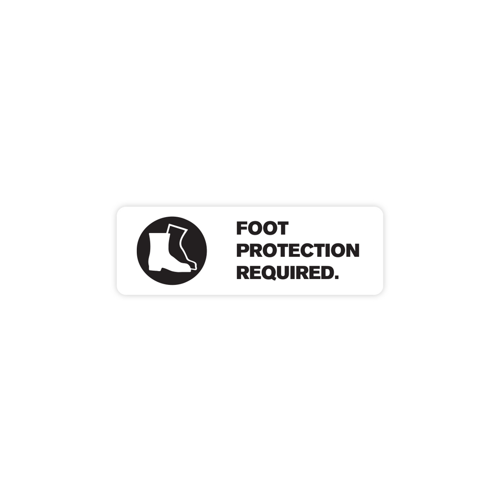 "Foot Protection Required Industrial Labels - 3""x1"" Roll of 500"
