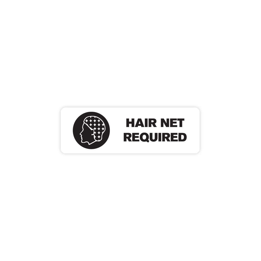"Hair Net Required Industrial Labels - 3""x1"" Roll of 500"