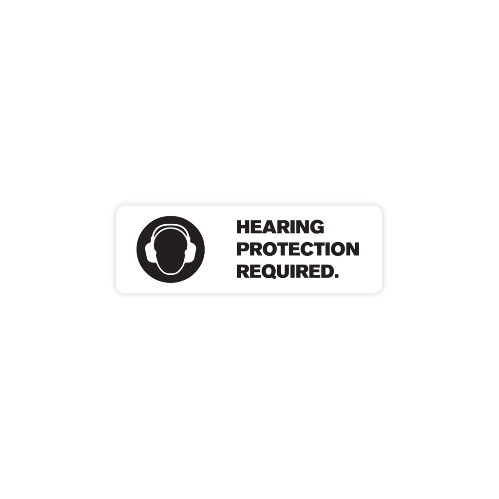 "Hearing Protection Required Industrial Labels - 3""x1"" Roll of 500"