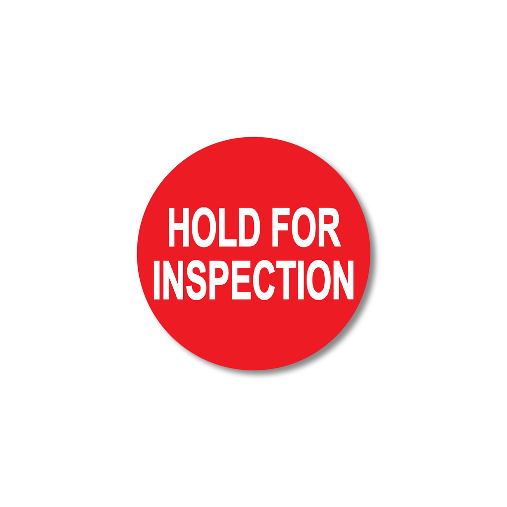 "Hold for Inspection Industrial Labels - 2""x2"" Roll of 500"