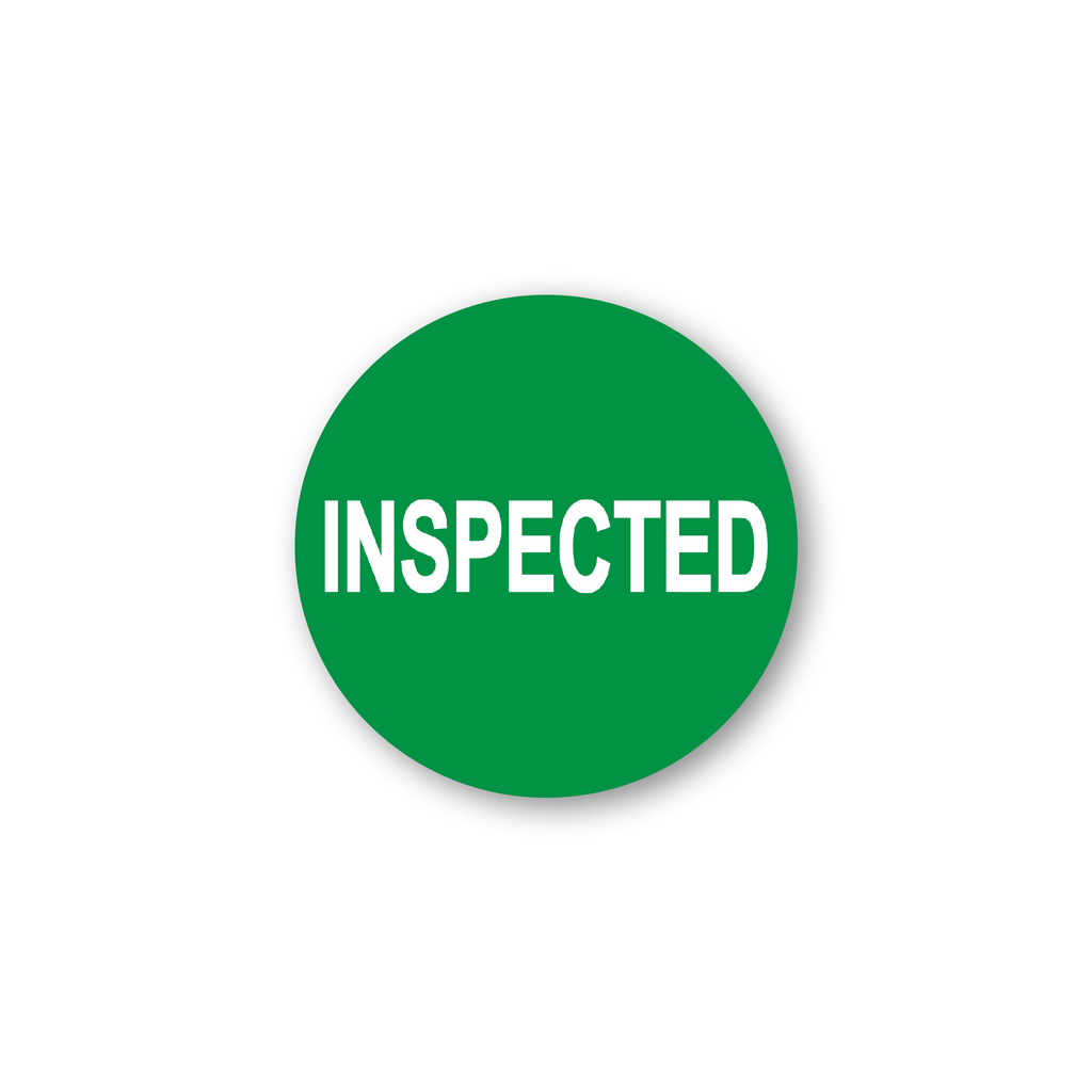 "Inspected Industrial Labels - 2""x2"" Roll of 500"