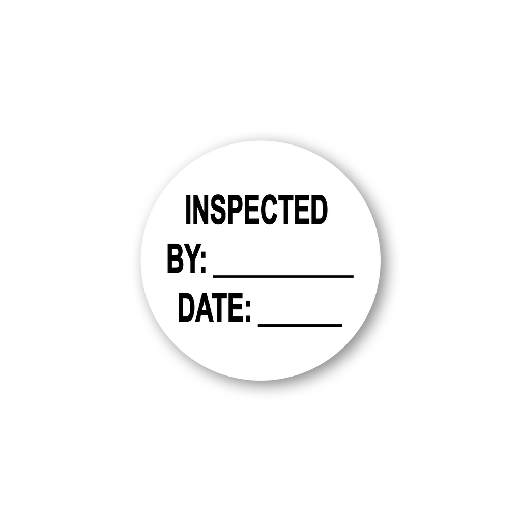 "Inspected by Date Industrial Labels - 2""x2"" Roll of 500"