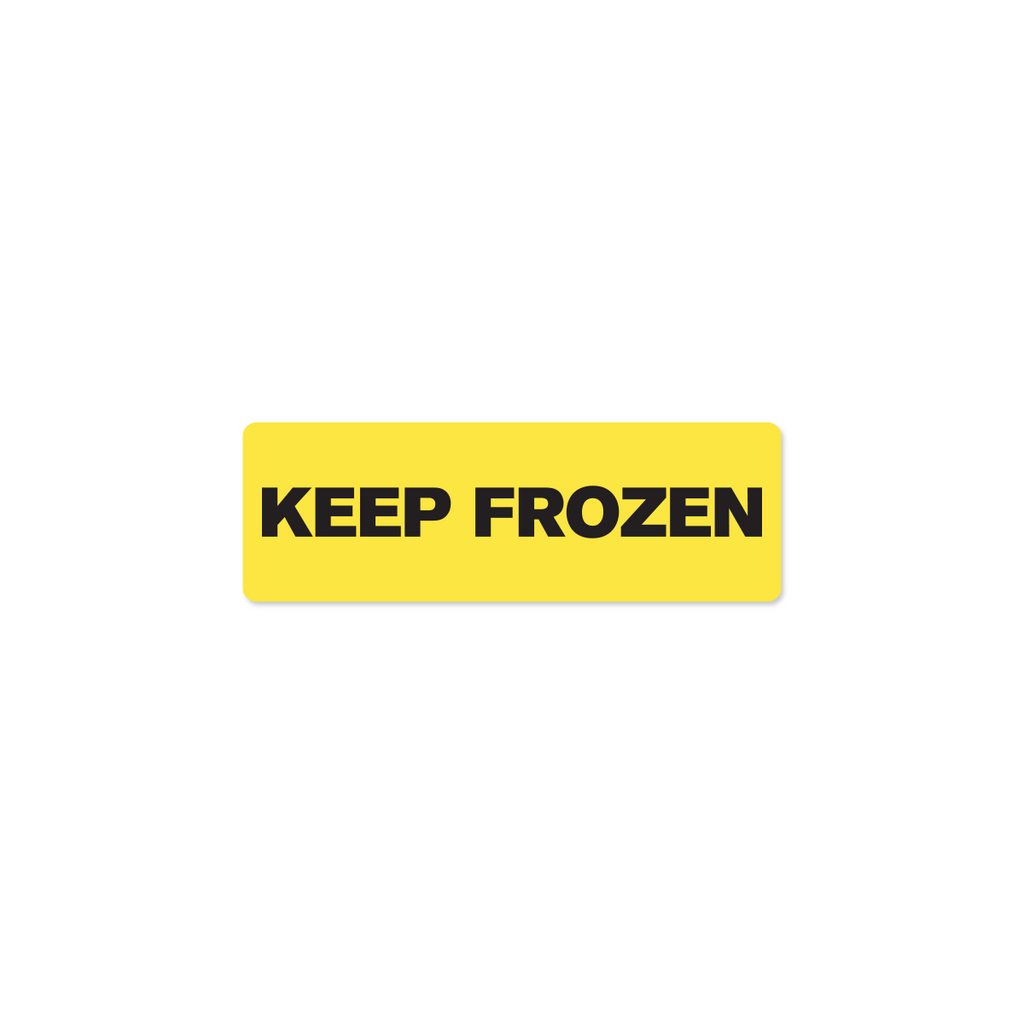 "Keep Frozen Industrial Labels - 3""x1"" Roll of 500"