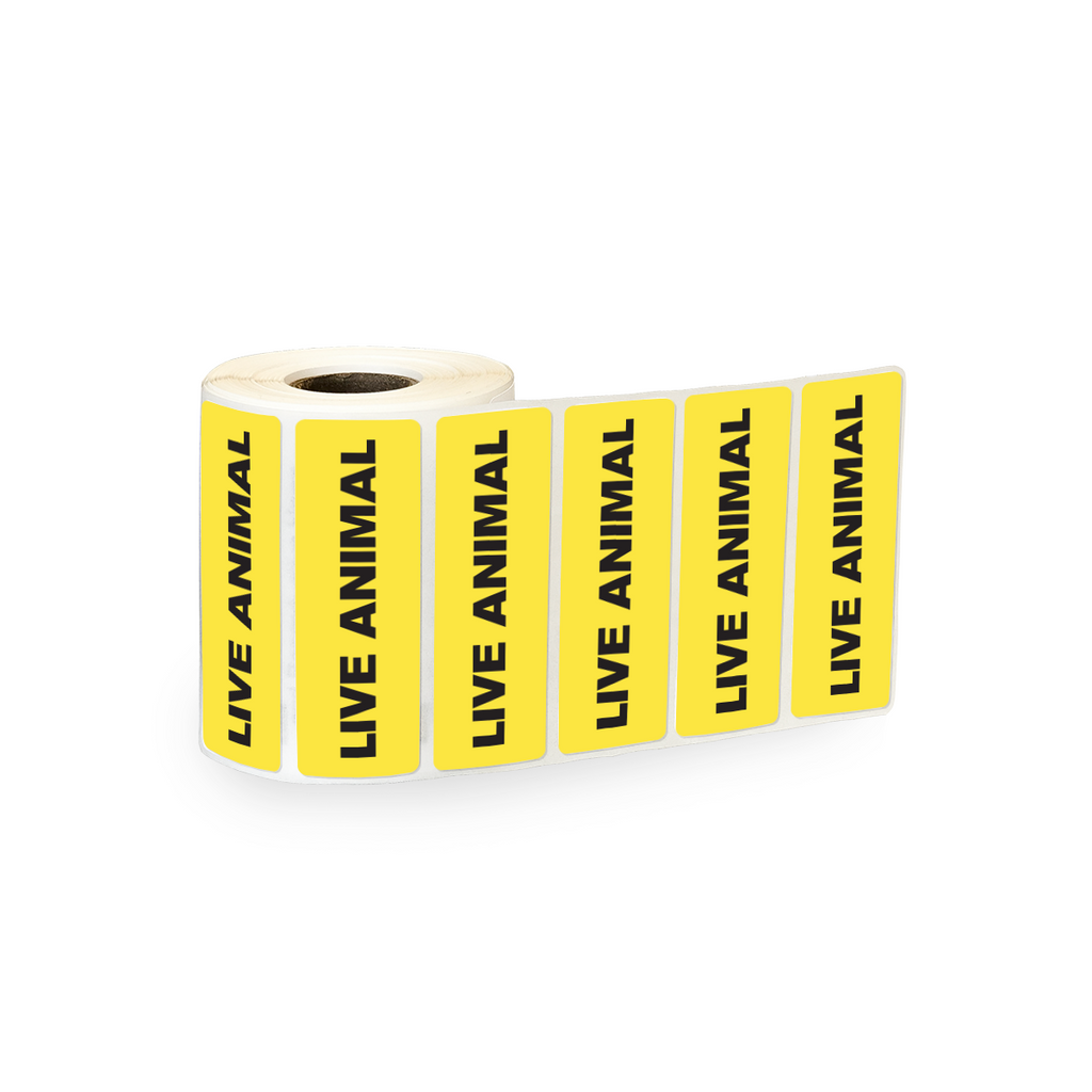 "Live Animal Industrial Labels - 3""x1"" Roll of 500"