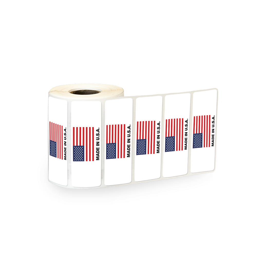 "Made in USA Industrial Labels - 3""x1"" Roll of 500"