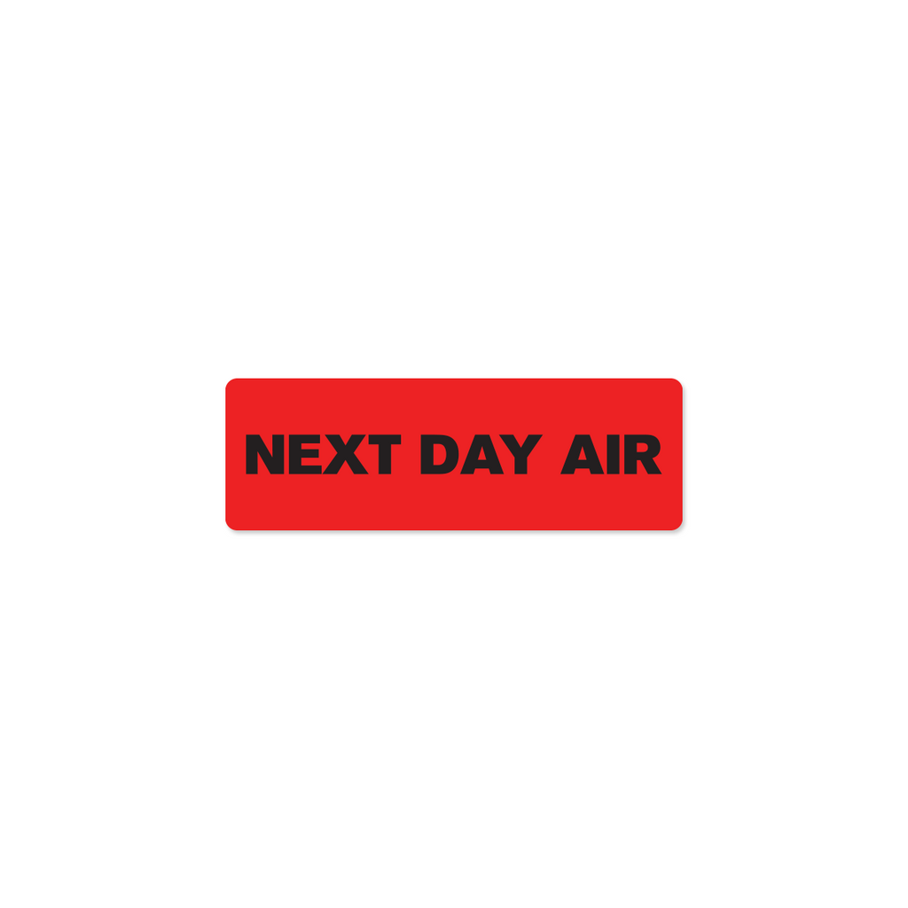 "Next Day Air Industrial Labels - 3""x1"" Roll of 500"