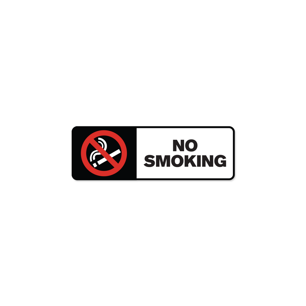 "No Smoking Industrial Labels - 3""x1"" Roll of 500"