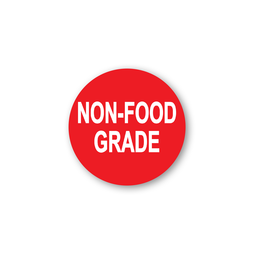 "Non Food Grade Industrial Labels - 2""x2"" Roll of 500"