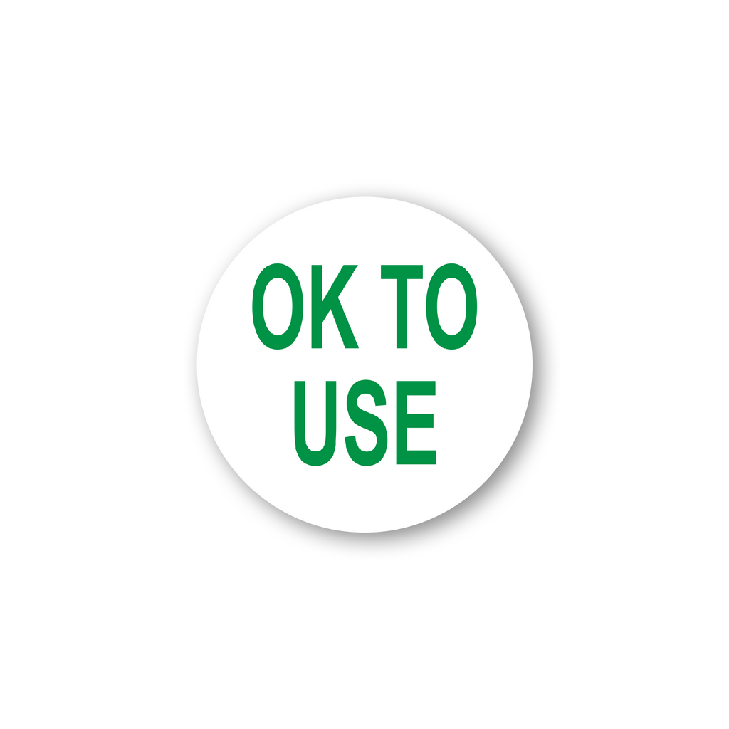 "Ok to Use Industrial Labels - 2""x2"" Roll of 500"