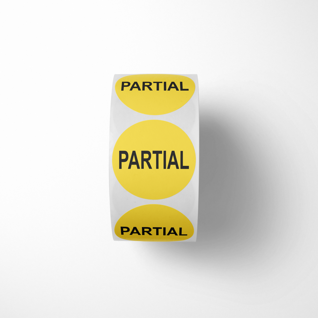 "Partial Industrial Labels - 2""x2"" Roll of 500"
