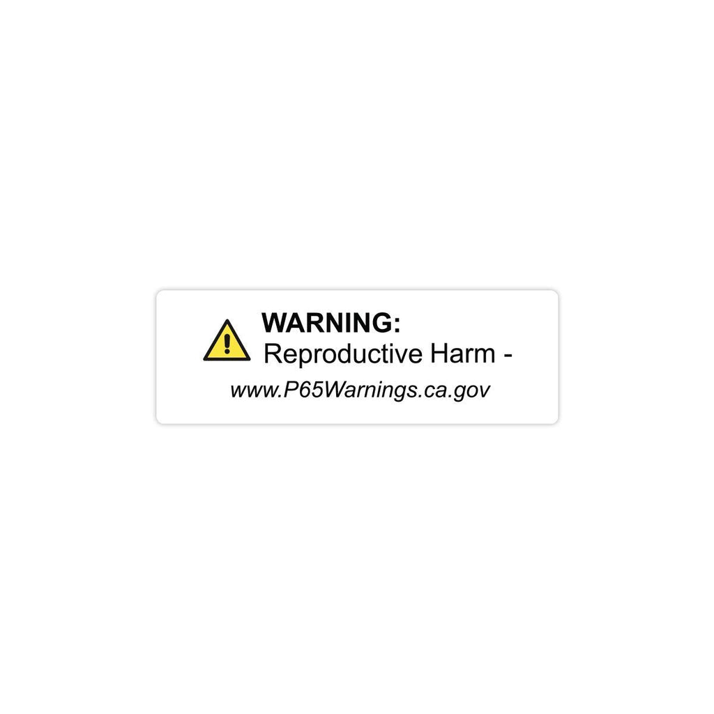 "California Prop65 Reproductive Harm Warning Labels - 3""x1"" Roll of 500"