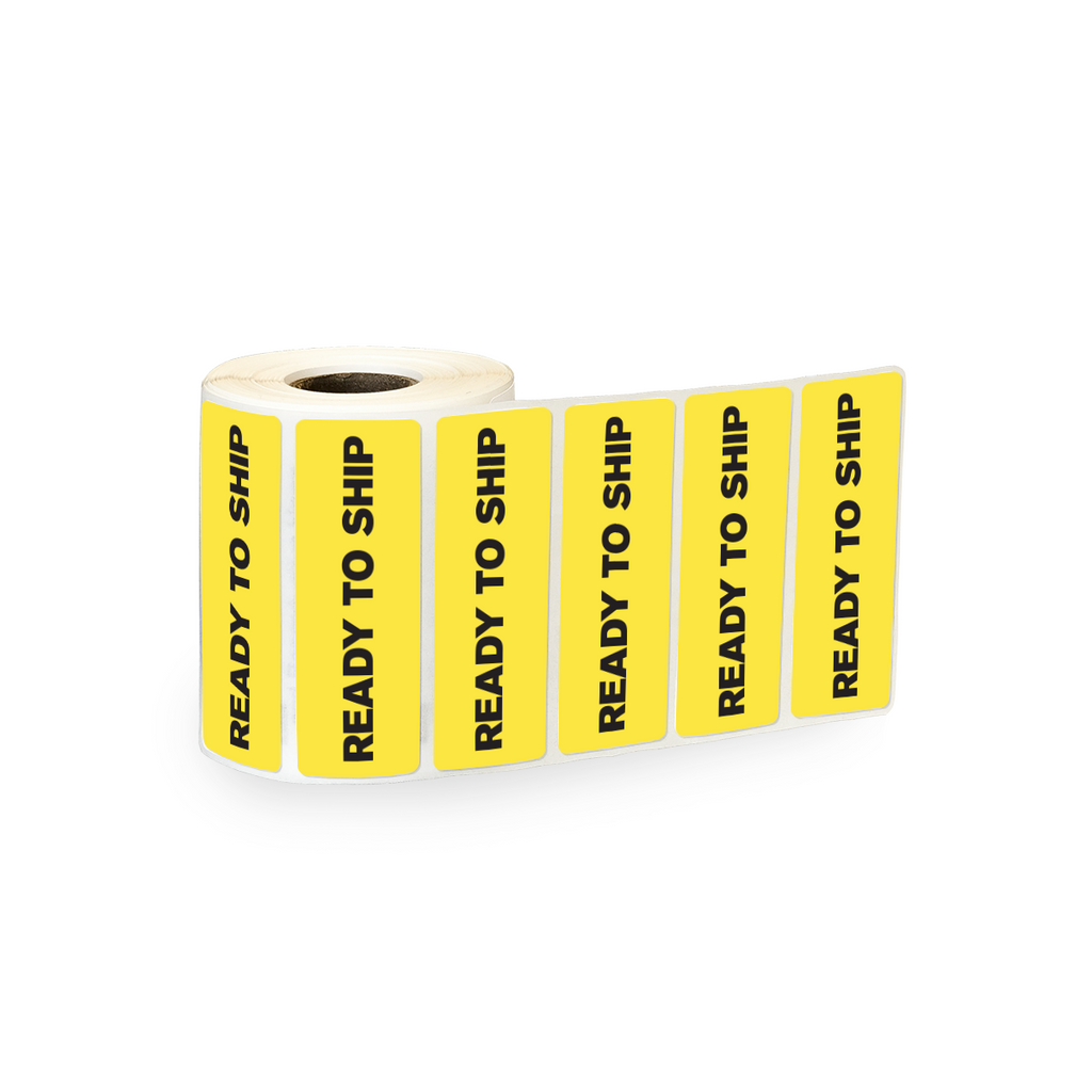"Ready to Ship Industrial Labels - 3""x1"" Roll of 500"
