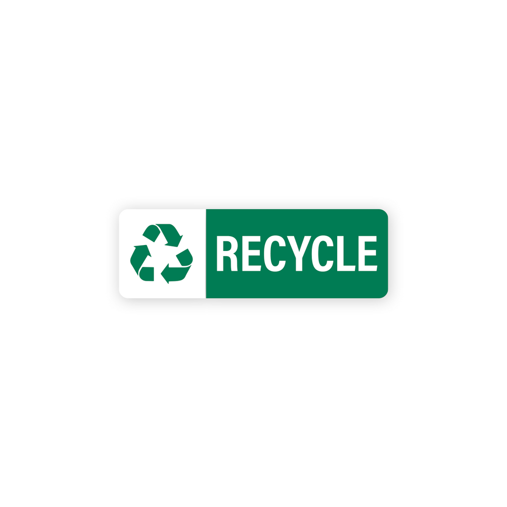 "Recycle Industrial Labels - 3""x1"" Roll of 500"