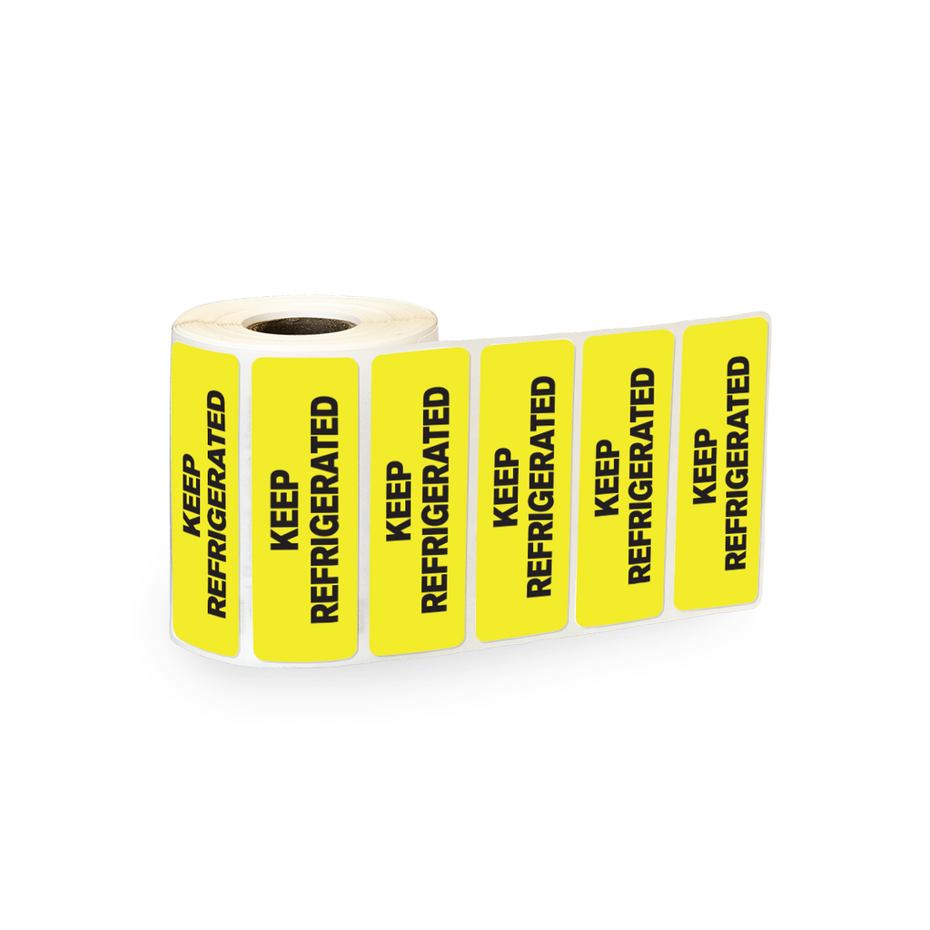 "Keep Refrigerated Industrial Labels - 3""x1"" Roll of 500"