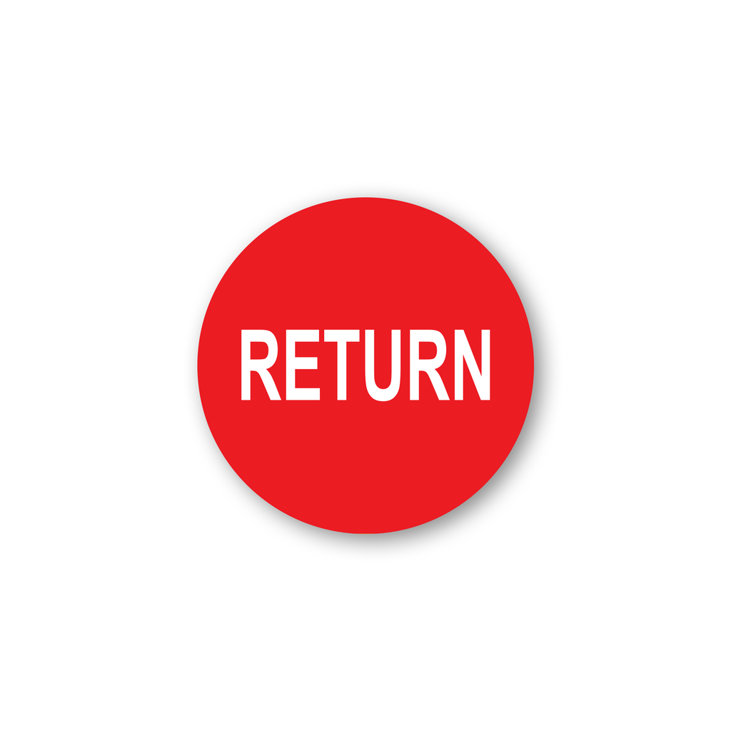 "Return Industrial Labels - 2""x2"" Roll of 500"