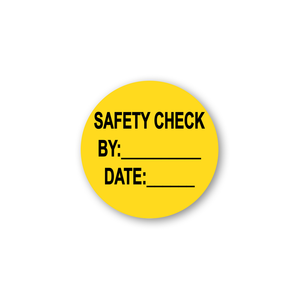 "Safety Check by Date Industrial Labels - 2""x2"" Roll of 500"