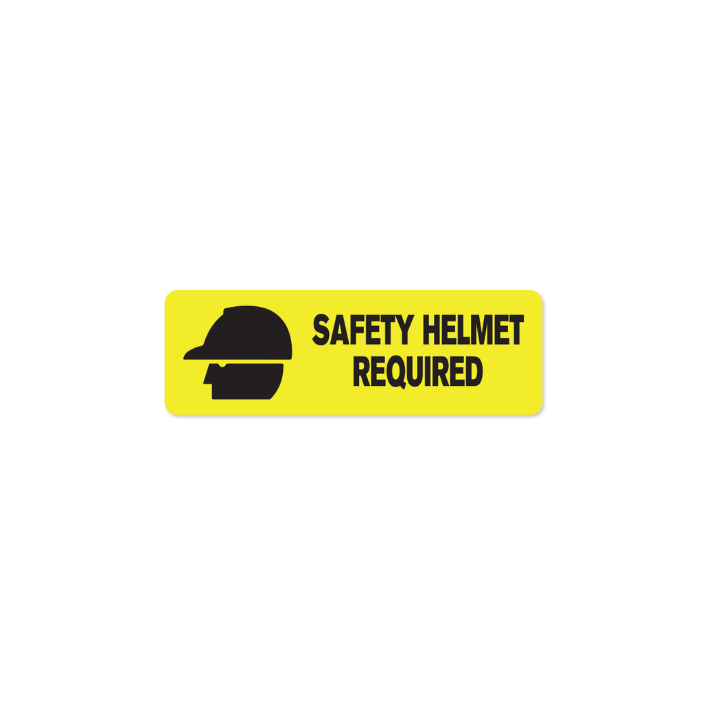 "Safety Helmet Industrial Labels - 3""x1"" Roll of 500"