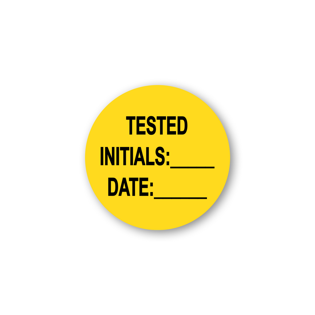 "Tested by Date Write in Industrial Labels - 2""x2"" Roll of 500"