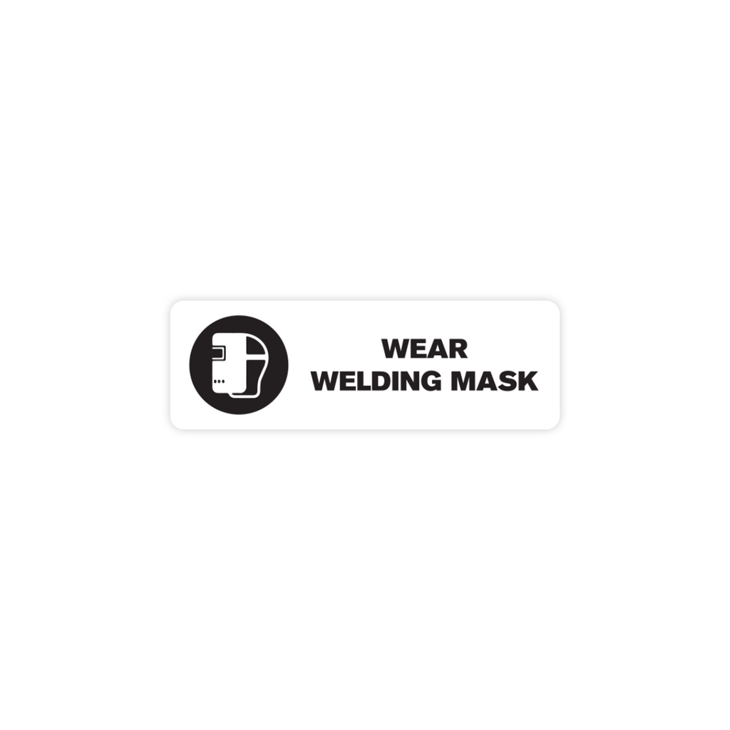 "Wear Welding Mask Industrial Labels - 3""x1"" Roll of 500"