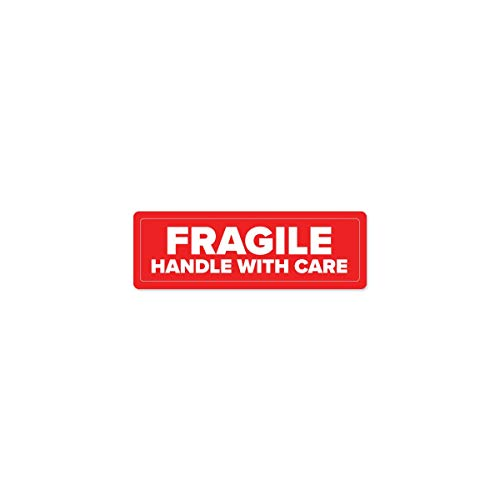 "Fragile Industrial Labels - 3""x1"" Roll of 500"