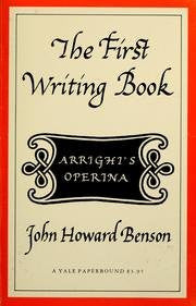 First Writing Book an English Translation and Facsimile