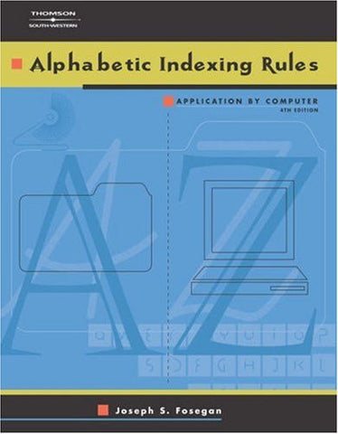 Alphabetic Indexing Rules: Application by Computer (with CD-ROM)