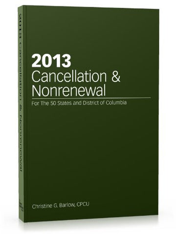 2013 Cancellation & Nonrenewal