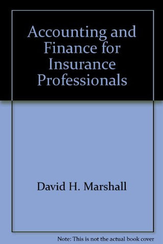 Accounting and Finance for Insurance Professionals