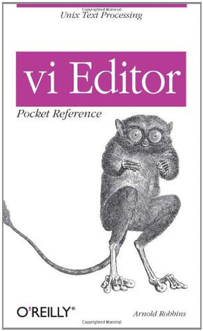 vi Editor Pocket Reference (Pocket Reference (O'Reilly))