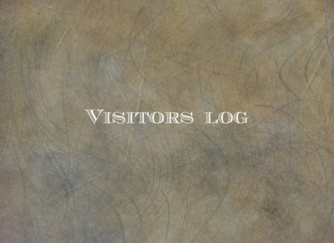 Visitors Log: Brown Rustic Leather Look | Simplistic sign in register book for office, work, business, hospitality, childcare & more |*paperback*