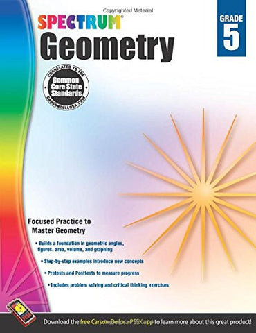 Geometry Workbook, Grade 5 (Spectrum)