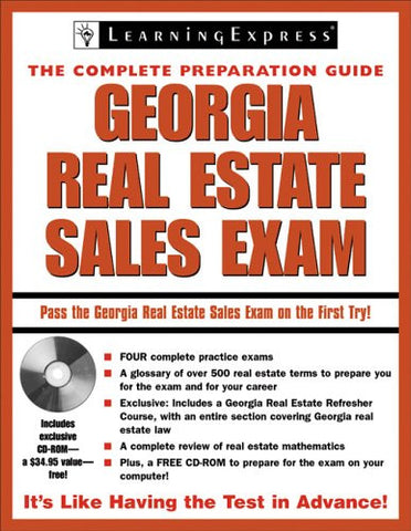 Georgia Real Estate Exam (Georgia Real Estate Sales Exam (Learning Express))